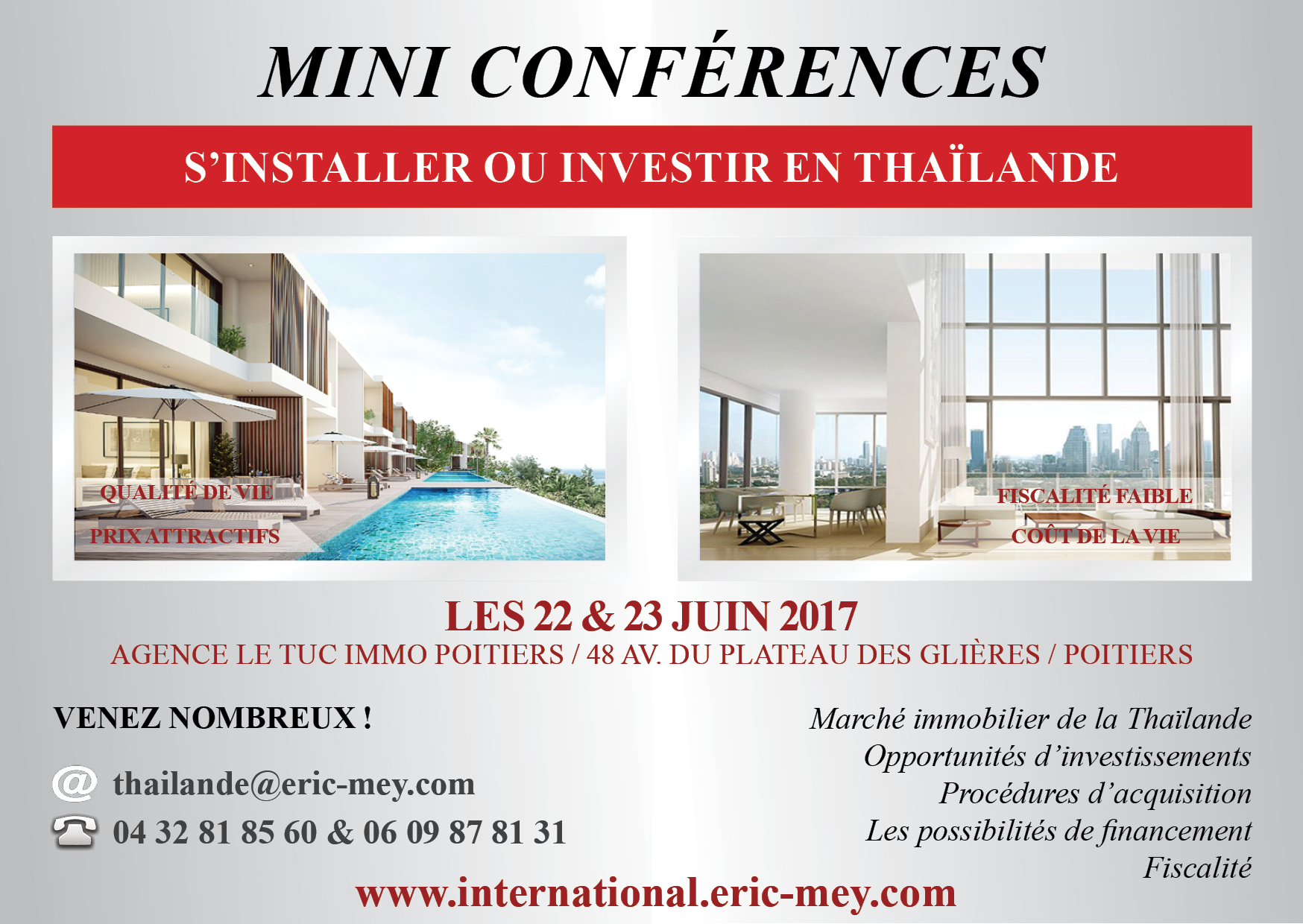mini conf rences s 39 installer ou investir en tha lande poitiers eric mey le blog. Black Bedroom Furniture Sets. Home Design Ideas